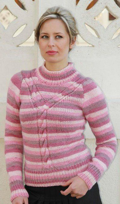 Knitting Pattern For Ladies Cable Sweater : Free knitting pattern women s sweaters why cable