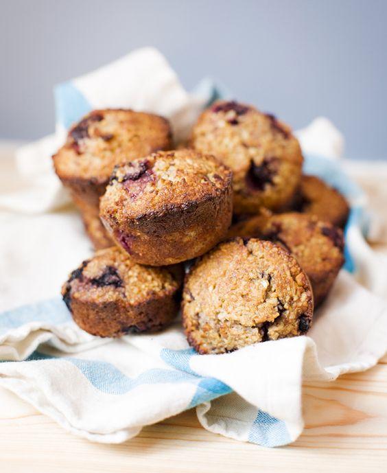 blackberries gluten coconut coconut oil blueberries almond muffins ...