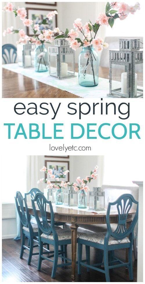 Easy Spring Table Decor On The Cheap Spring Table Decor Dining Room Table Decor Dining Table Decor