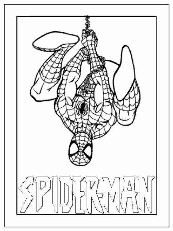 Ultimate Spiderman Coloring Pages #1