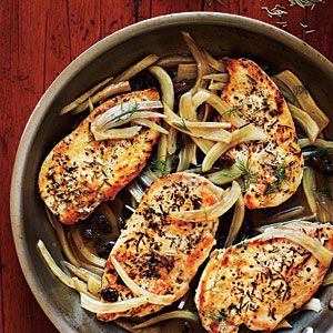 Chicken with Italian Sweet-Sour Fennel Recipe