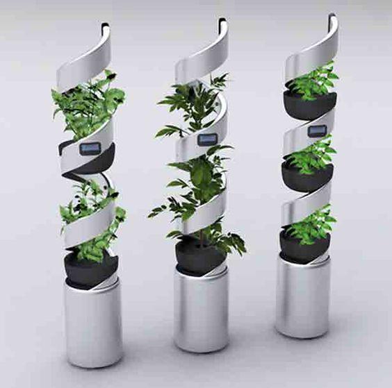 New twist on home hydroponic gardening milan designer for Self sustaining garden with fish