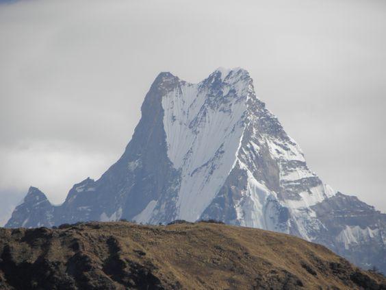 Fishtail Mountain (Machupuchhare) from Tadapani, Nepal
