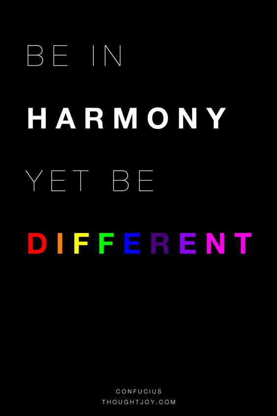 """Be in harmony yet be different."" ― Confucius #quote # ..."
