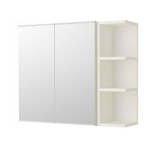 LILLÅNGEN Spiegelschrank 2 Türen/1Abschlregal - weiß - IKEA