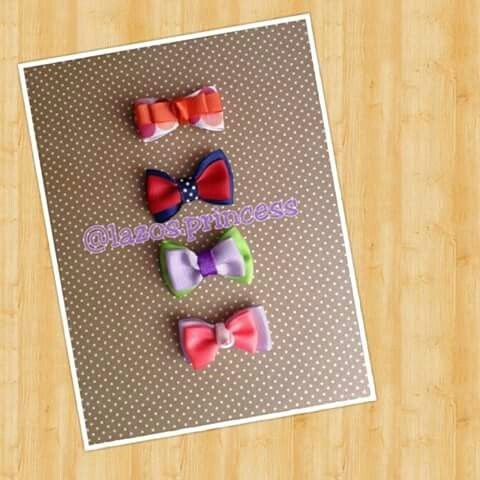 Lazos corbatica by Carolina González #lazosprincess #bows #clips #hairbows #handmade #madeinvzla #fashion #kids #accesorios #hair