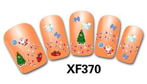 Nail Art 3D Decal Stickers Christmas Decoration - XF370 Nail Sticker Tattoo…