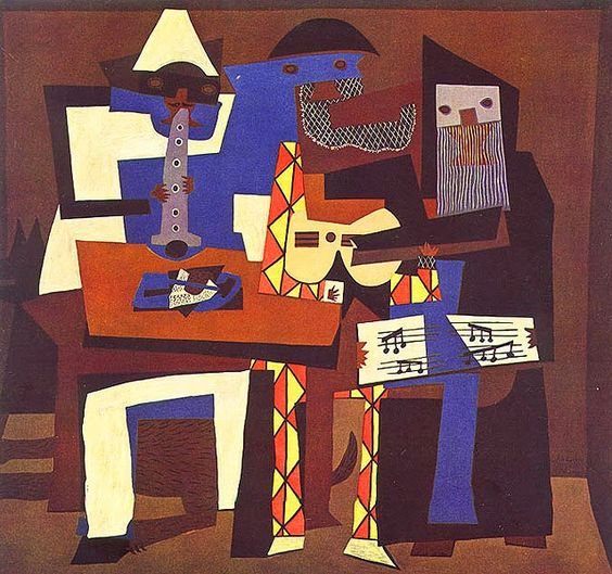Três músicos, Pablo Picasso, 1924
