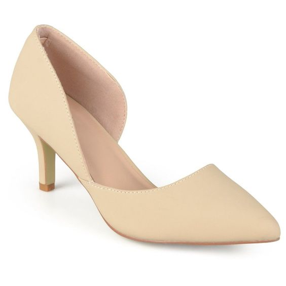 Women's Journee Collection Hali Almond Toe Cut-Out Pumps -