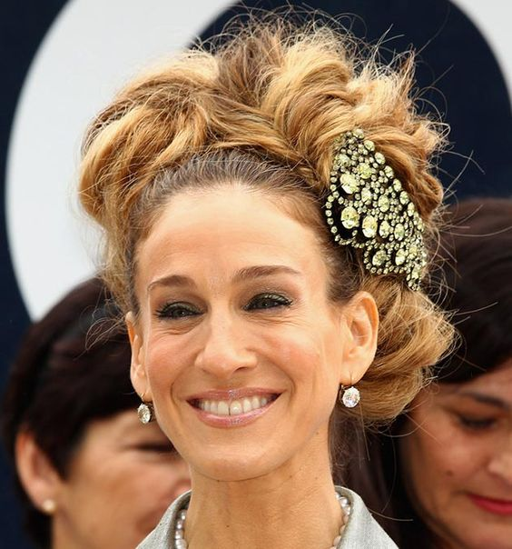 80 And More Updo Hairstyles For 2014: Sarah Jessica Parker Updos  #updos #hairstyles #updohairstyles