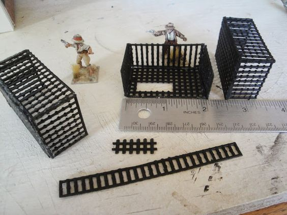 Custom made fire escape for 28mm wargaming.