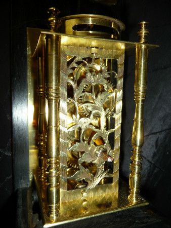 JAPANESE PILLAR CLOCK WITH STRIKE, 19th C