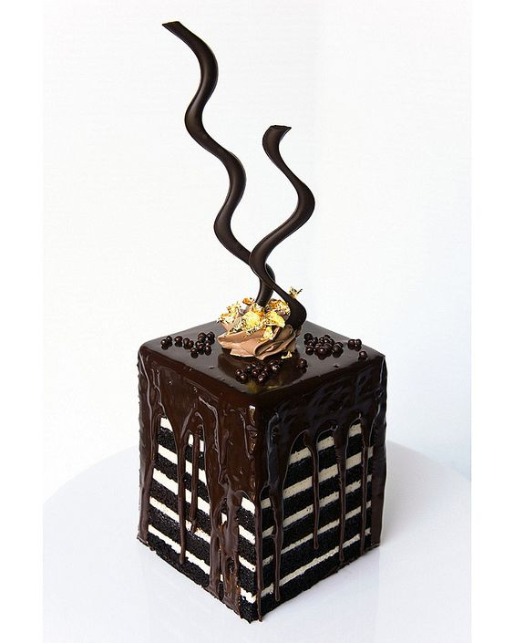 The Pastry Shop's famous Chocolate Cake Tower served at The Bristol Lounge at @Mandy Dewey Seasons Hotel Boston... just as good as it looks.
