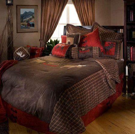 Amazon.com: Moose Plaid Twin 5-piece Bedding Comforter: Home & Kitchen