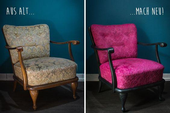 aus alt mach neu polster anstreichen diy diy pinterest lebensstil und selber machen. Black Bedroom Furniture Sets. Home Design Ideas