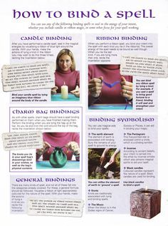 Magick Spells:  How to Bind a #Spell.