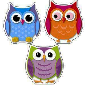 owl decorations for classroom   colorful owl cutouts teacher resources themes colorful owls