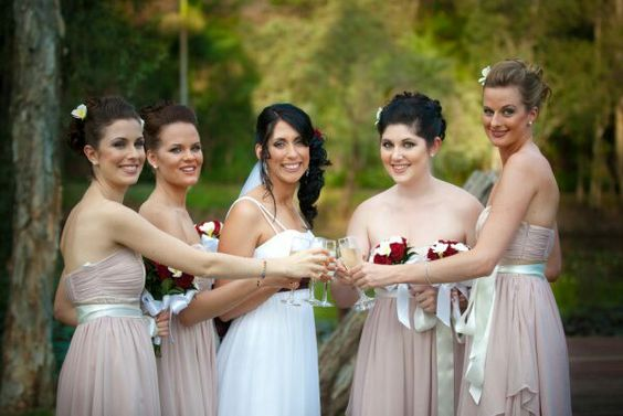 Bride and her bridesmaids!