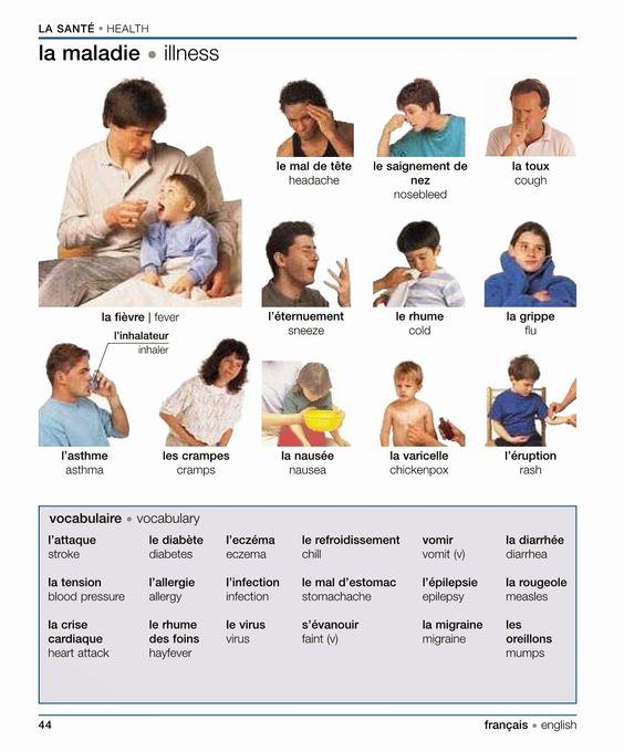 Vocabulaire: La santé