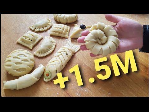 طريقة تشكيل اكثر من 15 شكل من المعجنات غاية في الجمالnew Beautiful Pastry Ideas رمضان فطائر جديد Youtube Food Artists Pastry Design Easy Puff Pastry