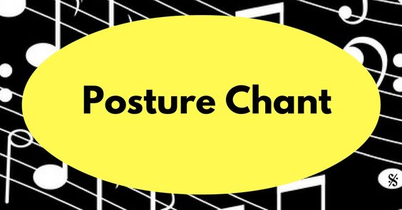 Quick Tip! Here's a Posture Chant to help remind your students of the correct…