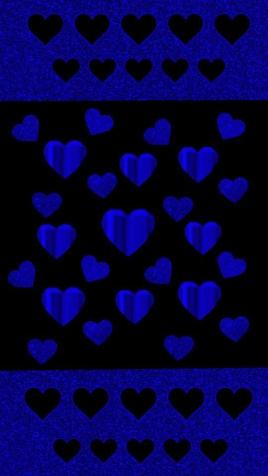 Blue Glitter Hearts Heart Iphone Wallpaper Heart Wallpaper Dont Touch My Phone Wallpapers Black and blue heart wallpaper