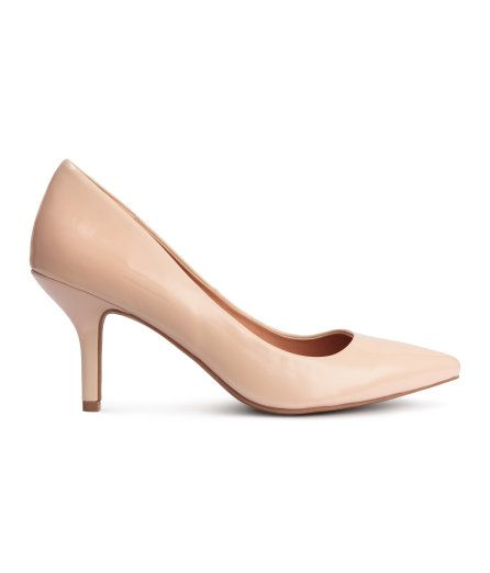 Check this out! Pumps with pointed toes, imitation leather insoles, and rubber soles. Heel height 3 1/4 in. - Visit hm.com to see more.: