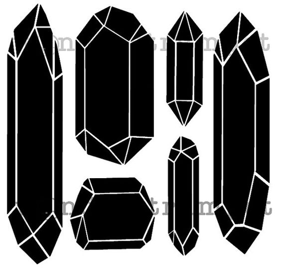 Crystal Sencils from Etsy