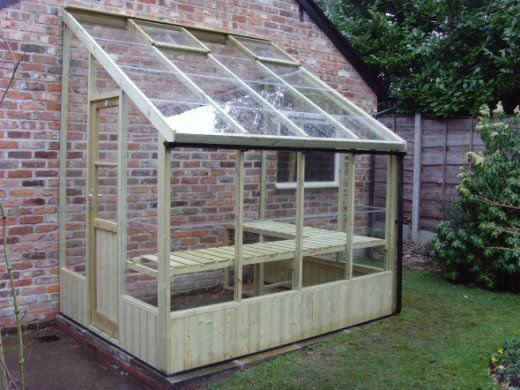 Swallow Dove Lean to Greenhouse - 6ft Wide Wooden Lean to Greenhouse