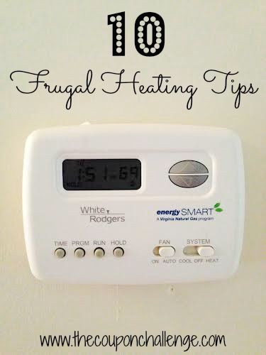 Brrrr!  If it's cold outside, you need to read these 10 FRUGAL HEATING TIPS to save Money this winter.  It's not all about turning down your thermostat and wearing a sweater!