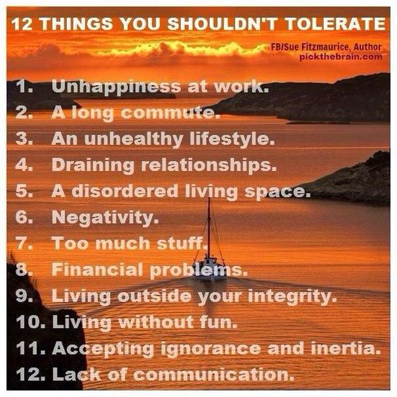 12 Things You Shouldn't Tolerate