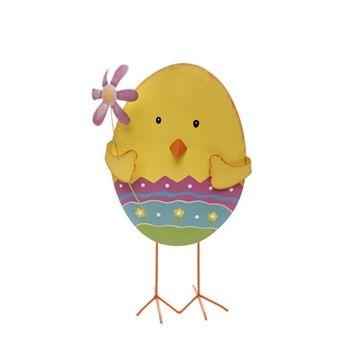RAZ Imports Standing Chick with Flower #VonMaur #RAZ #Easter #Decor #Hoilday