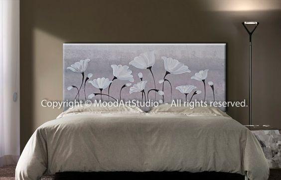 Cabecero de cama pintado a mano original http www - Cabeceros pintados a mano ...