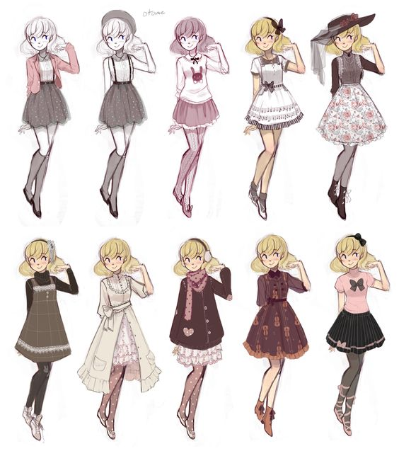 Gallery For gt Anime Girl Clothes Designs