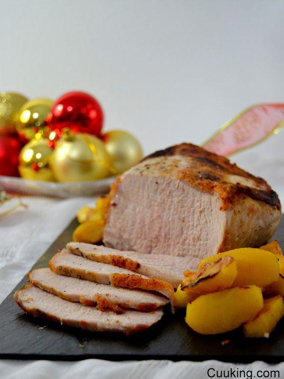 Cuuking!: Lomo de cerdo asado con manzana