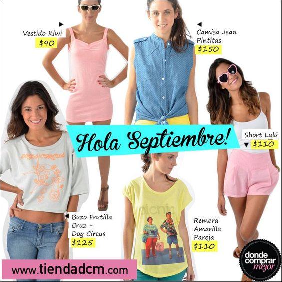 ¡Hola Septiembre! ¡Sentite diosa con menos plata! ➜ www.tiendadcm.com