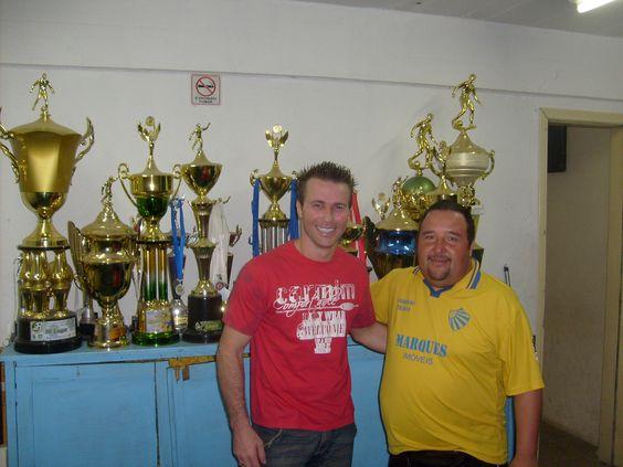 Alexandre Gaucho (left), real name Alexandre Vieira de Ávila, is a Brazilian professional soccer player born  June 20, 1969 in Brazil. Brazilian teams he has played for include Pelotas, Gremio Porto Alegre, Flamengo, Botafogo, Volta Redonda and São Raimundo.