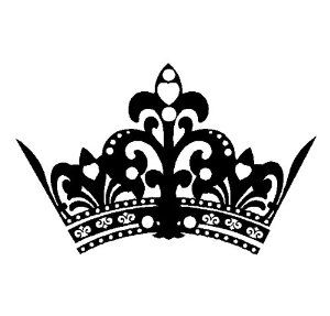 Crown black and white clipart - photo#20