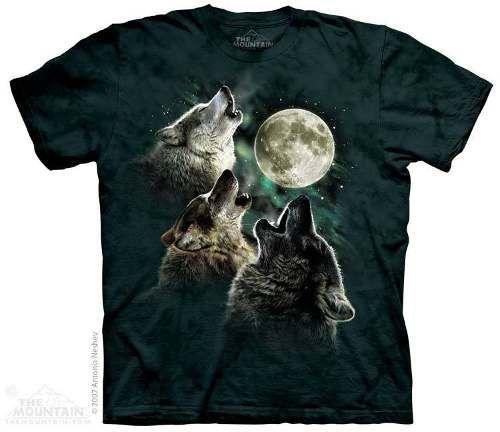 camiseta lobos uivando para lua - the mountain