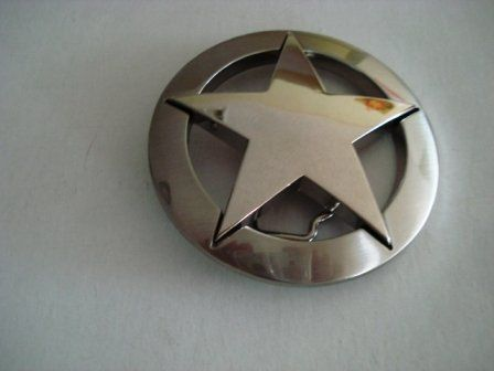 BESTSELLER! Famous Silver Marshall Law Texas Star Belt Buckle