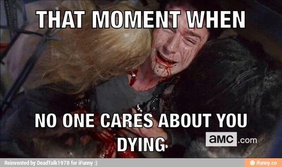 The Walking Dead funny meme.You're a douchebag, your words
