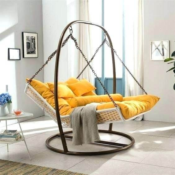 Beautiful And Stylish Indoor Swing Chair For Bedroom In 2020 Indoor Hammock Bed Hammock Swing Chair Swing Chair For Bedroom