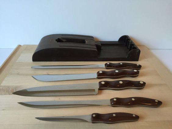 Vintage Cutco Knife Set Mid Century Cutlery and by GirlGoesVintage