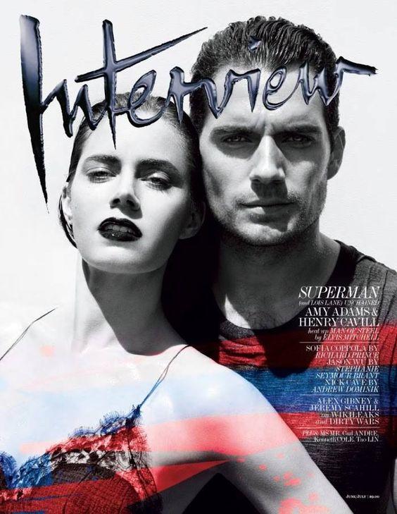 Amy Adams and Henry Cavill on the cover of Interview Magazine