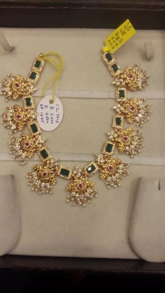 Pin By Maanya Reddy Event Manager On Bridal Jewelry Gold Jewelry Fashion Beautiful Gold Necklaces Gold Jewellery Design Necklaces