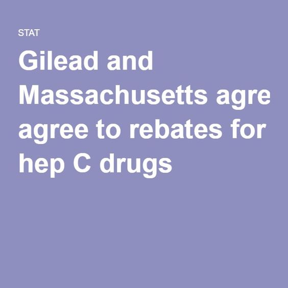 Gilead and Massachusetts agree to rebates for hep C drugs