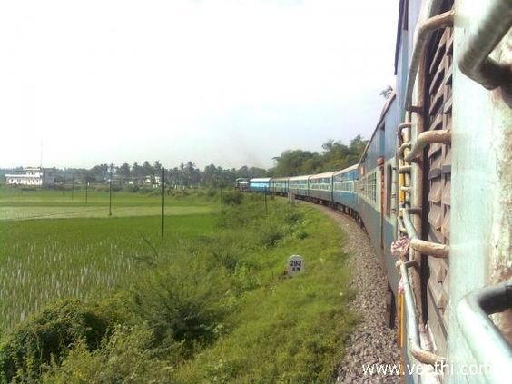 Beautiful curve of the train, Nagercoil
