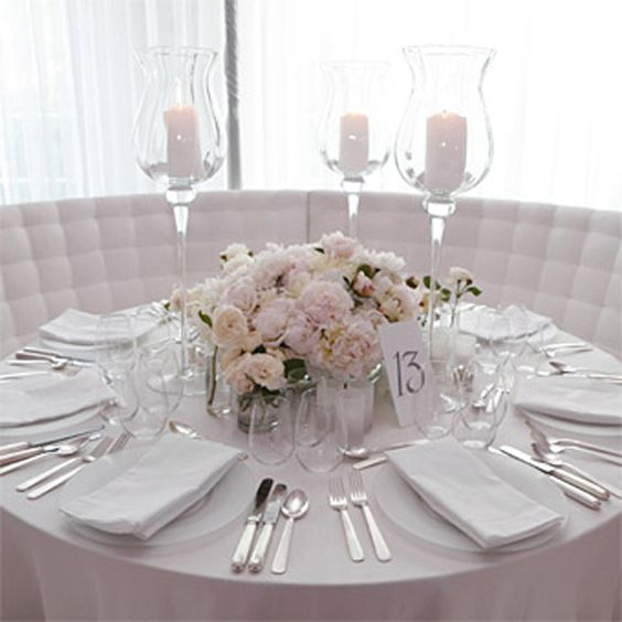 Round Table Wedding Centerpieces Indian Wedding Reception