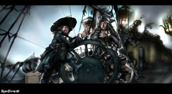 Two Captains,One Ship by KomyFlyinc@ by KomyFly.deviantart.com on @deviantART