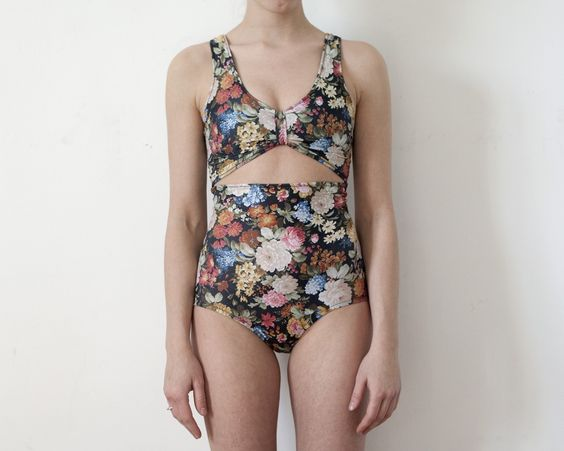One Piece Floral Bather- love the cut-out